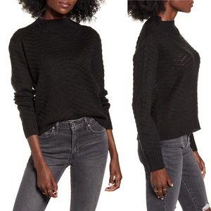 NWT DREAMERS Chevron Stitch Mock Neck Sweater